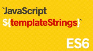 javascript string template
