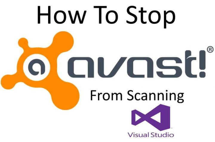 stop avast from scanning visual studio